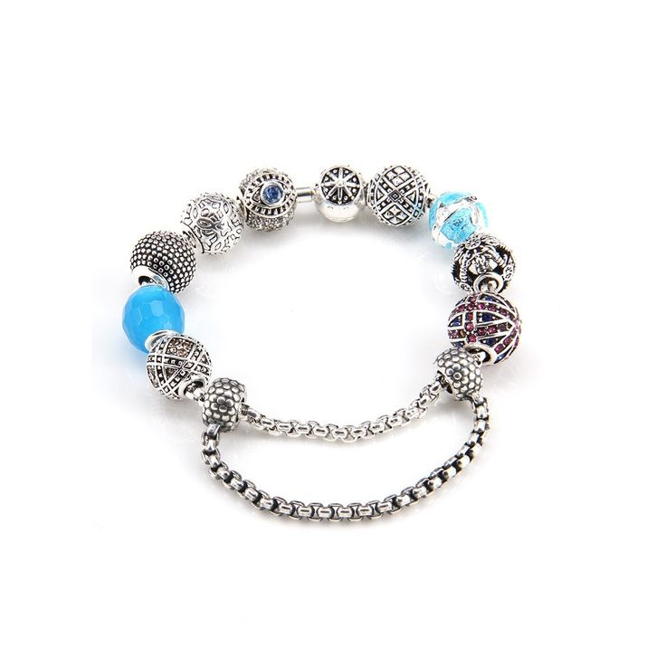Bracelets Chain with Earth Bead And Nepal Karma Beads Thomas Style Silver Plated Good Jewelry For Women TS Gifts Bijouterie