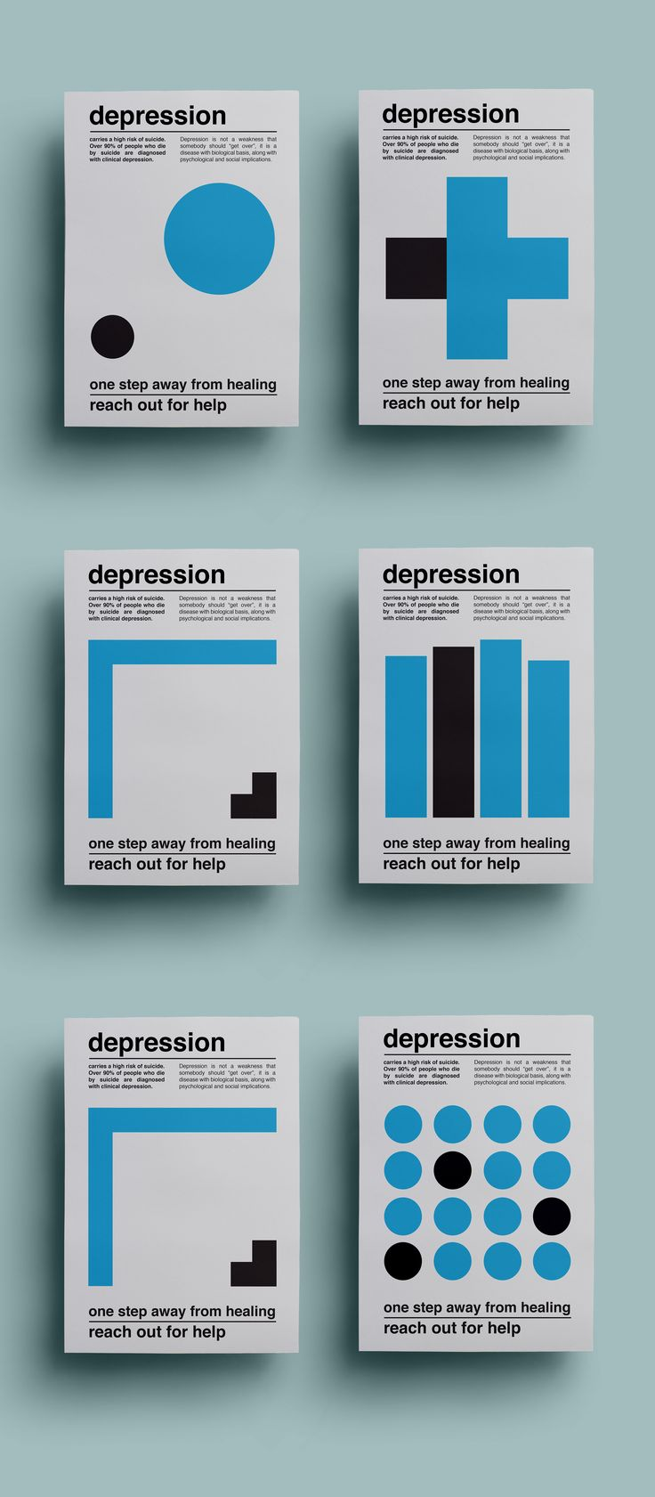 """Check out this @Behance project: """"Depression / Poster Series"""" https://www.behance.net/gallery/57469457/Depression-Poster-Series"""
