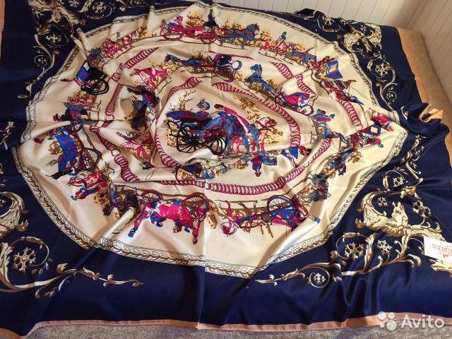 Платок шелковый, 120/120 см Проминад— фотография №1