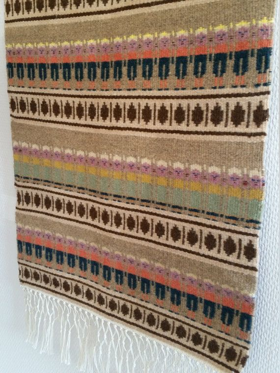 Scandinavian tapestry. Hand  woven wool rug  by scandinavianseance