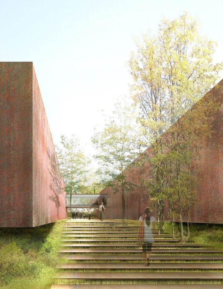 """formascriticas: """" → Museu Soulages por RCR Architects. Estas simulações virtuais, realizadas pelo atelier espanhol RCR Architects para o Museu Soulages, são lindíssimas. Não pretendem ser fotografias,..."""