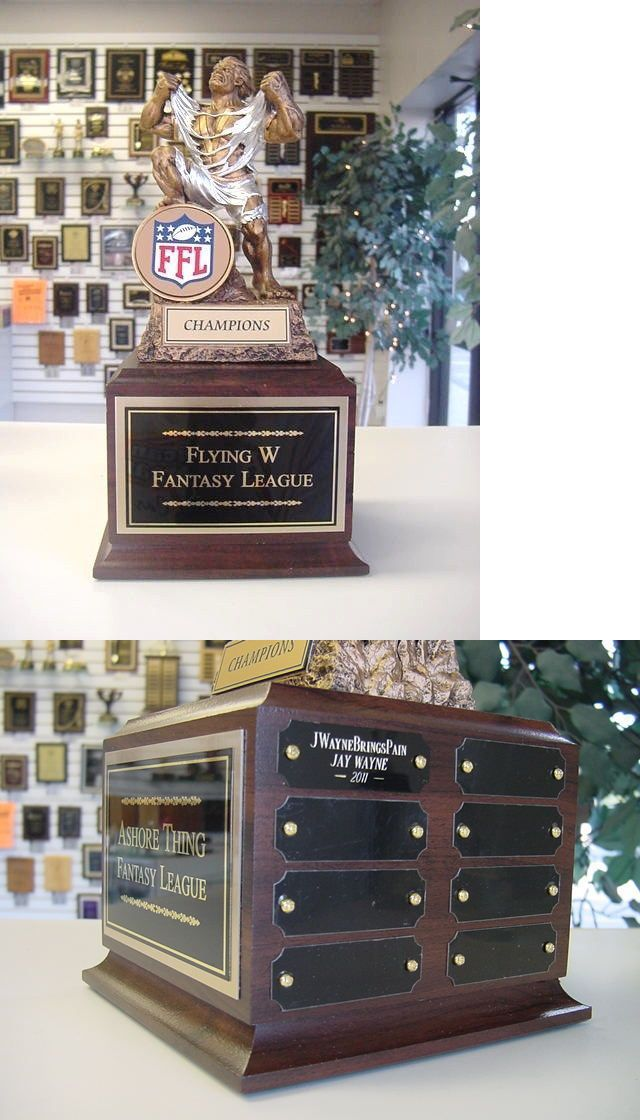 Other Football 2024: Fantasy Football Perpetual Trophy 16 Y Ffl Monster New Color Ffl Logo! -> BUY IT NOW ONLY: $57.95 on eBay!