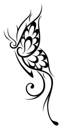 butterfly drawing tattoo tribal side google