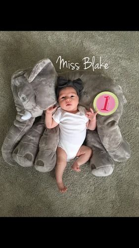 """""""The pillow is so cute! Great for milestone pictures. We love ours!"""" -Toni S."""