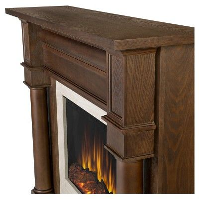 Real Flame - Berkely Electric Fireplace-Chestnut Oak, Chestnut Oak