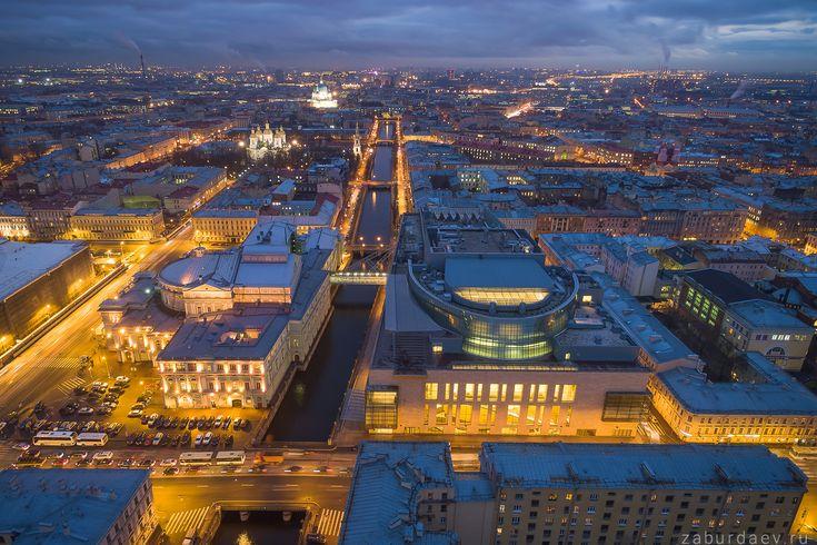 35PHOTO - Станислав Забурдаев - Ночной Петербург с квадрокоптера - 5