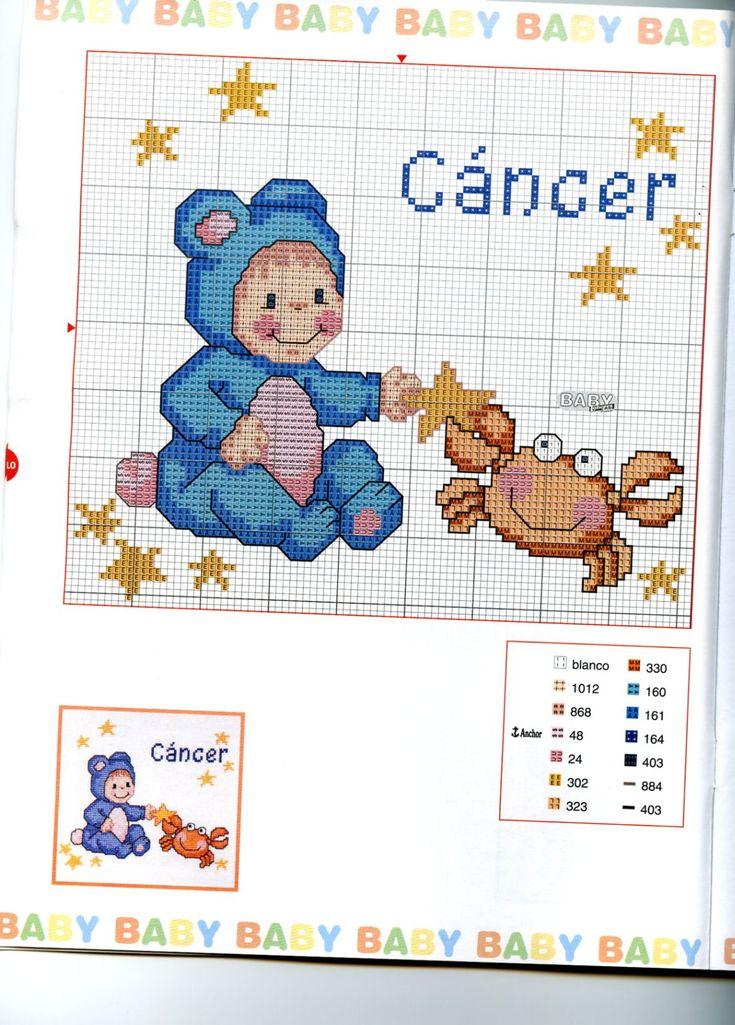 Schema punto croce Baby Oroscopo 3