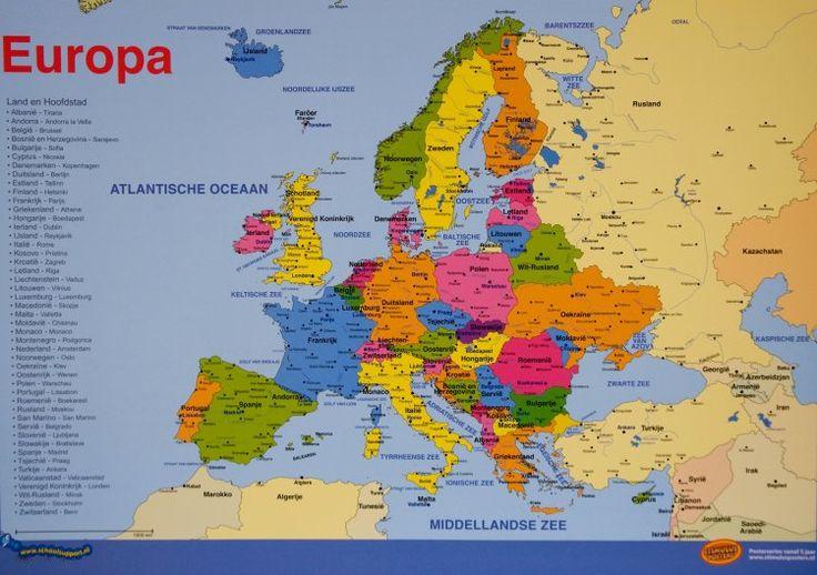 Wereldkaart Europa