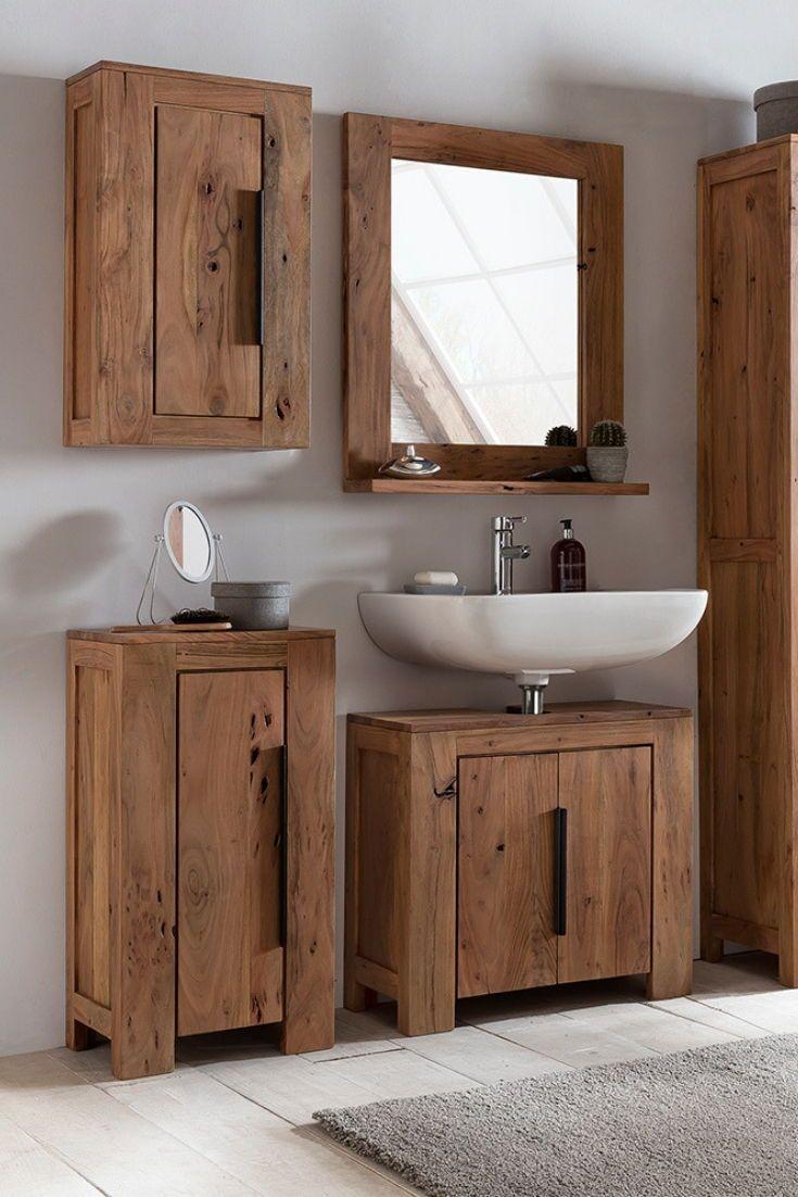 Waschbeckenunterschrank Auckland Unterschrank Regal Badezimmer Rustikal Unterschrank