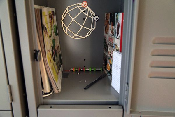 Check out this littleBits project! Locker prank