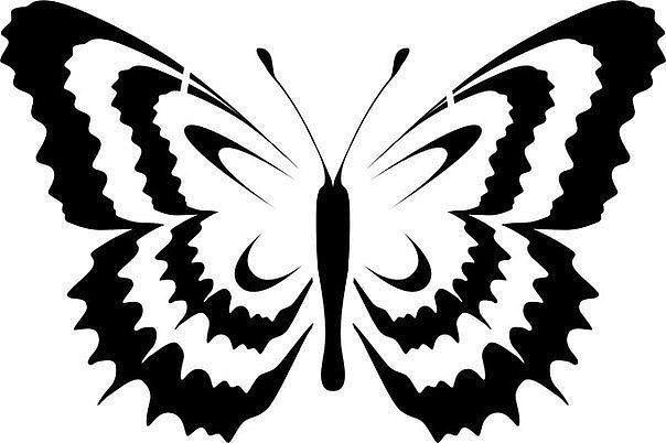 Трафареты бабочек