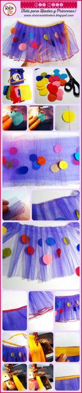 DIY Tutu!! Tutorial HandMade paso a paso para hacer tu propio Tutú de Bailarina, Princesa o Hada colorida!! Si quieres aprender solo tienes que hacer CLICK en el enlace!! http://goo.gl/Zp6xdl #DIY #diytutu #tutu #girlskirt #handmadeskirt #tutorialhandmade #circus #circo #princesa #tutuprincesa #elrincondeteo #diyhandmade #fashionkids #sewingtutorial #tutorialcostura #tutorialenespañol #tul #bailarina #tutorialtutu #handmadetutu #handmadeforkids #handmadeclothes #handmadeclothesforkids