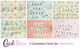A set of motivational postcards - send them to those that need a 'paper' hug. Love them!
