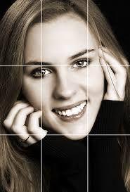 Resultado de imagem para retrato linha dos olhos regra dos terços