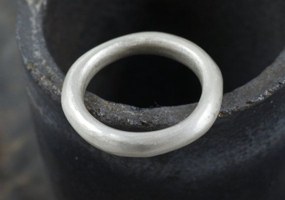 Heavy cast wedding band in sterling silver band by WyckoffSmith, £85.00