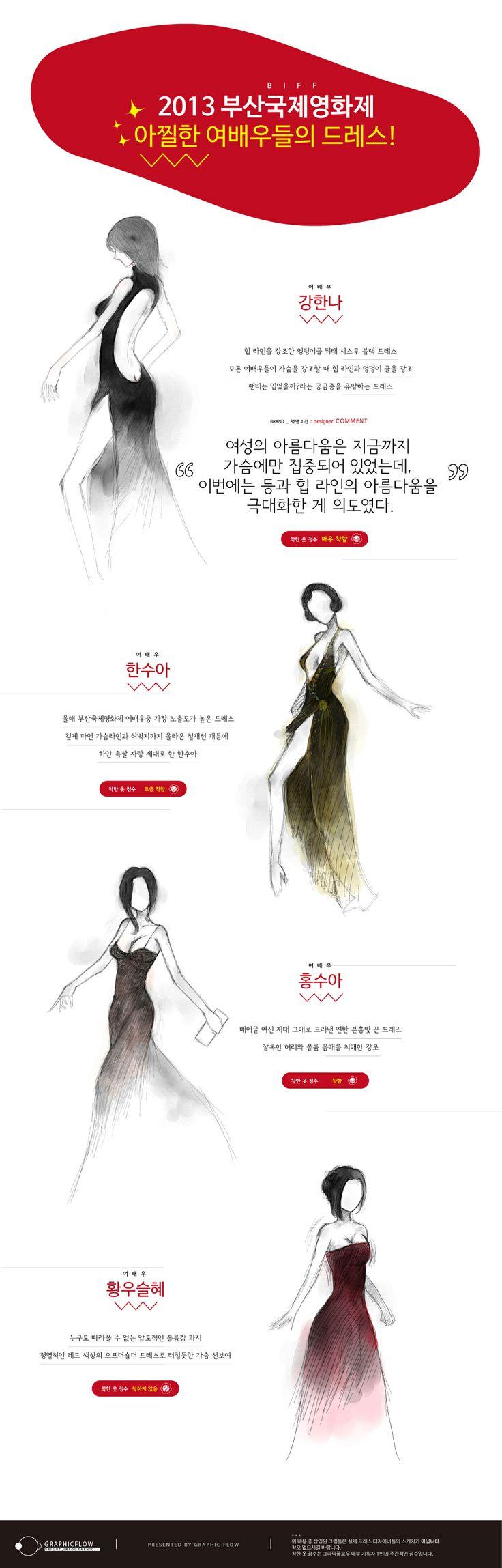 2013 부산국제영화제(BIFF) 아찔한 여배우들의 드레스! 시간은 많이 흘렀지만 작년 가을 부산을 달구었던 가장 핫한 여배우들의 레드카펫 드레스는? #인포그래픽 #부산국제영화제 #BIFF #여배우 #드레스