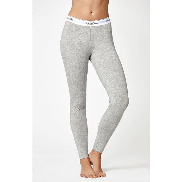 Calvin Klein Modern Classic Leggings ($46) ❤ liked on Polyvore featuring pants, leggings, slim pants, white trousers, slimming leggings, wide-waistband leggings and white slim pants