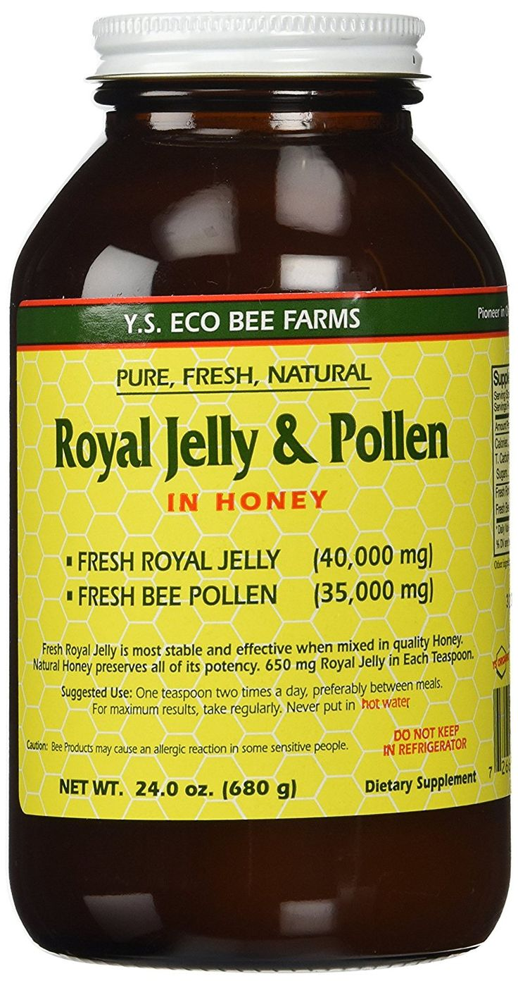 Fresh Royal Jelly   Bee Pollen, Honey Mix - 40,000 mg YS Eco Bee Farms 24.0 oz. *** Trust me, this is great! Click the image. : Fresh Groceries