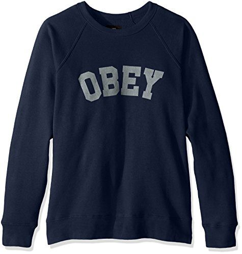 OBEY Men's Academy Crew Sweatshirt     #MothersDay #Mothers #Day #ForHim #ForHer #Holidays #GiftIdeas #Gifts #Affiliate