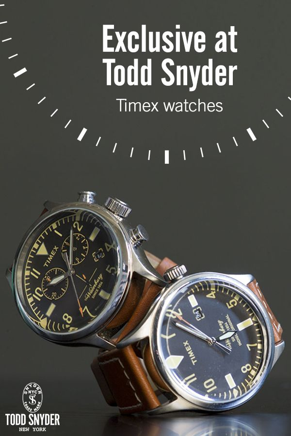 Get everyday luxuries at Todd Snyder, including watches from Timex like the Red Wing Chronograph and the much sought-after Todd Snyder Mod Watch. Blend mod style with state-of-the-art functionality with details like vintage-inspired dials and premium leather straps. Some luxuries just never go out of style.