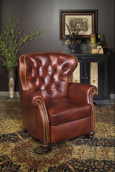 Best Extra Large Tufted Leather Recliner From Wellington S 640 x 480