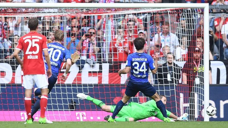 Bayern Munich's Tom Starke happy to be the hero against Darmstadt