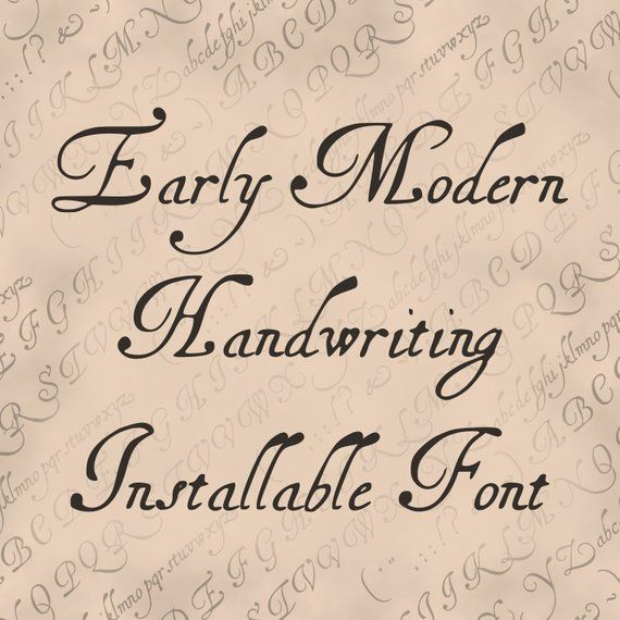 Vintage 17th Century Handwriting Installable Font Antique Early Modern Uppercase Lowercase Cursive Letters Lettering Otf Ttf In 2020 Vintage Script Fonts Free Cursive Fonts Typography Fonts Handwriting