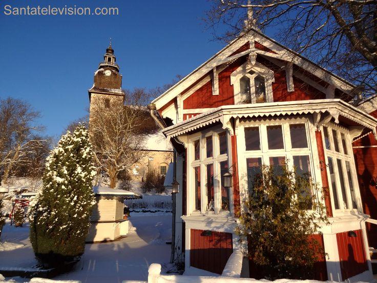 Naantali Lounais-Suomessa joulun aikaan