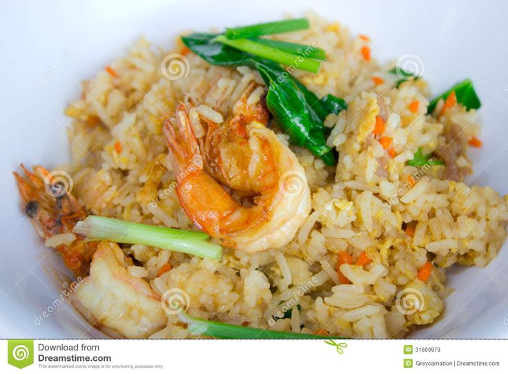 Thai Shrimp Fried Rice Food to Make in the Butterball Turkey Fryer