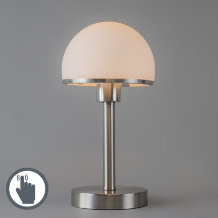 Table Lamp Bauhaus Touch Steel