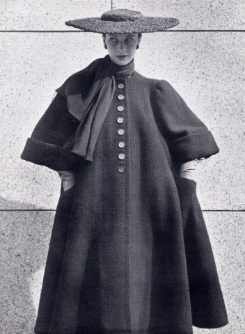 Balenciaga 1951 Winter Coat Hat. @Deidré Wallace