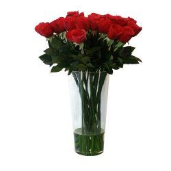 SIL002 red rose arrangement