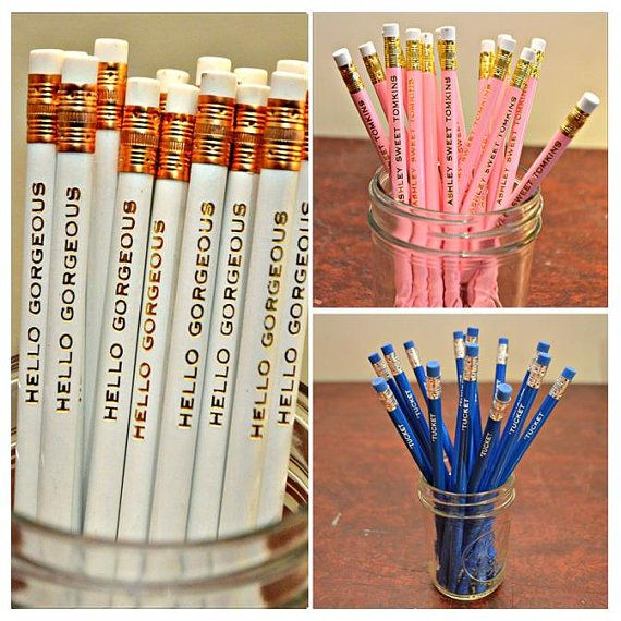 Stocking Stuffer Set of 15 Custom Name Pencils by RoostPaperie