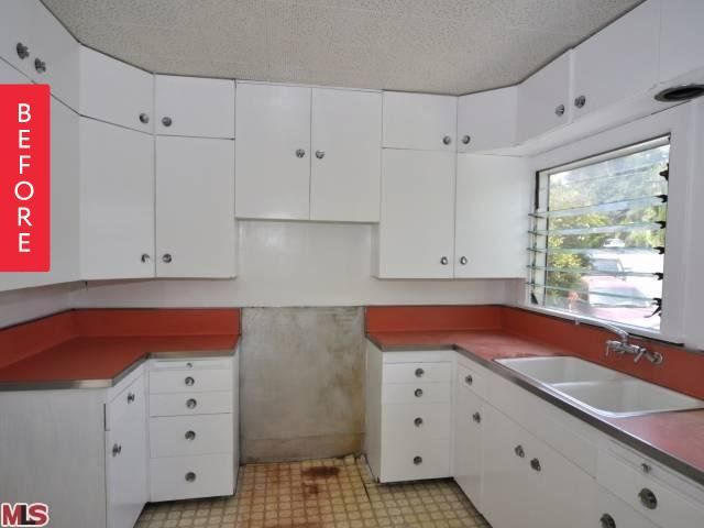 Before & After: A 1950s Kitchen Finally Gets New Cabinets & A New Modern Look