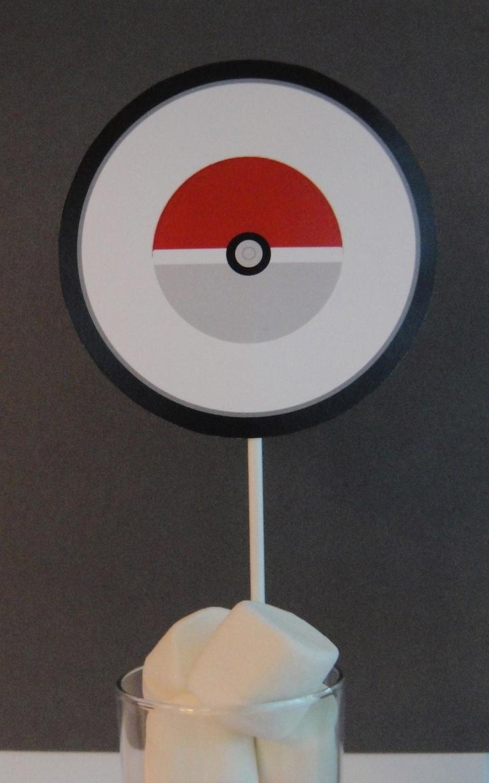 """Pokemon Centerpiece, Pokemon, Pokemon Party, 5"""" Round"""