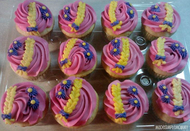 Rapunzel's Braid Cupcakes | Sugar for Breakfast: Rapunzel's Braid Cupcakes
