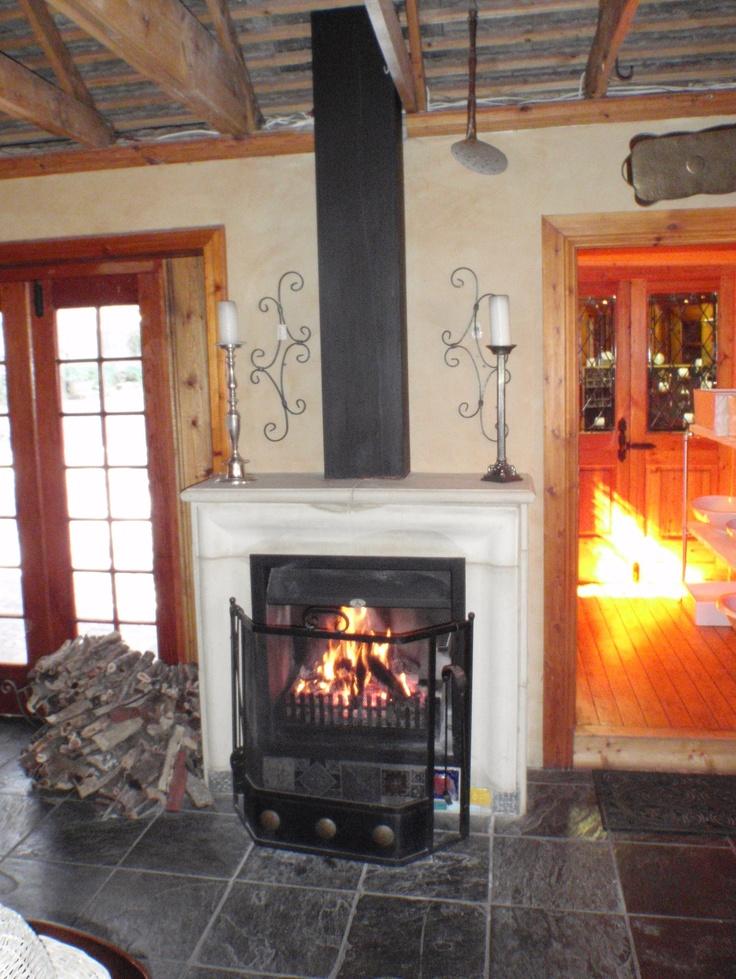 Fireplace that keeps us warm at Orejen