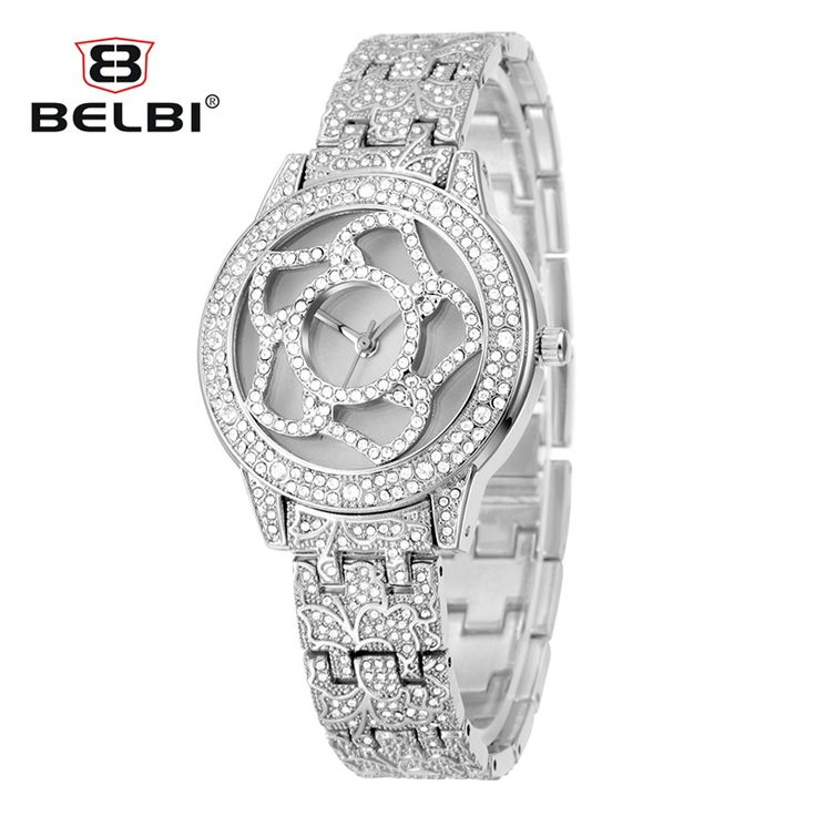 Top Brand BELBI Watches Women Luxury Gold Watch Rhinestone Quartz watch JAPAN PC 21 Quartz Movement Full Steel Relogio Feminino-in Women's Watches from Watches on Aliexpress.com | Alibaba Group