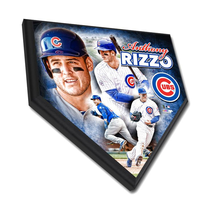 """Chicago Cubs Anthony Rizzo 11.5"""" x 11.5"""" Home Plate Plaque - $31.99"""