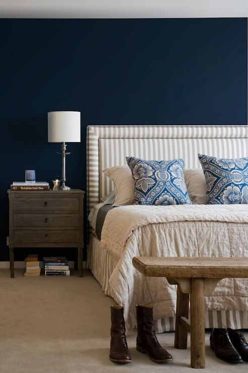 Blue Bedroom Furniture: Il Contrasto Tra Il Chiaro E Scuro E Molto Bello
