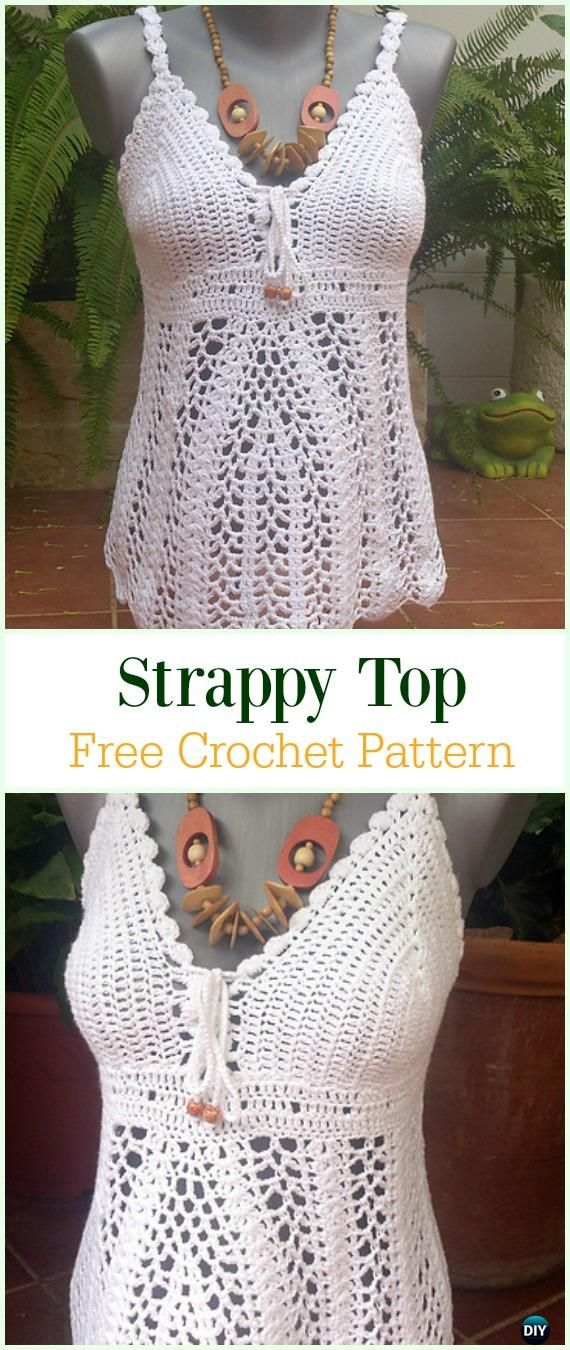 Crochet Sleeveless Top Free Pattern-Crochet Summer Top Free Patterns