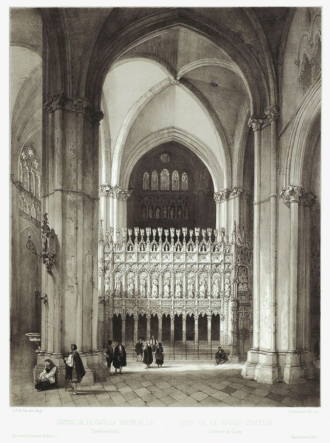 G. P. de Villa-Amil - Side of the Great Chapel, Cathedral of Toledo, 1844