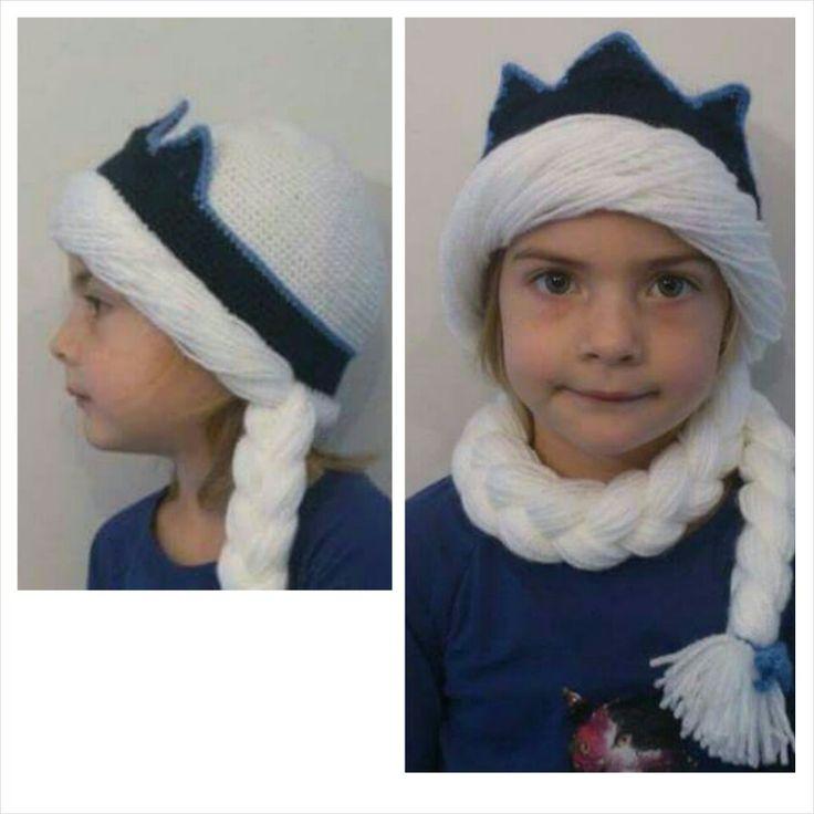 Elsa winter hat crochet. #Frozen #Elsa #Crochet #Winterhat