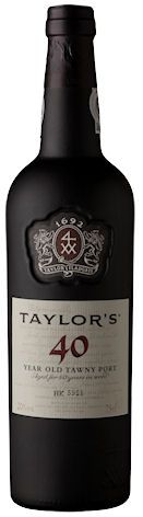 Taylor's 40 Years Old Tawny. Gamme actuelle.
