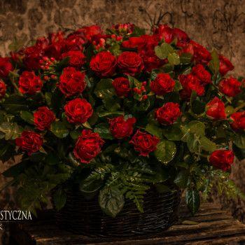 Podziękowanie Rodzicom Ślub Wesele Kosz Kwiatowy Kosz urodzinowy