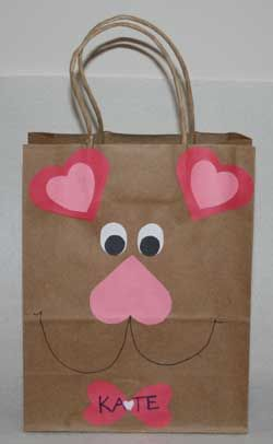 Valentine mail bag! Could use foam stickers to make it easier for little ones!