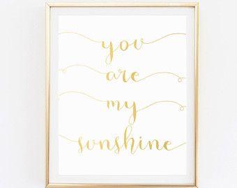 Tu sei il mio sole arcobaleno arte Nursery di thedreamygiraffe