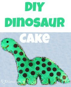 A cute and easy dinosaur cake that even a beginner can make!  No special pan required!  Includes template