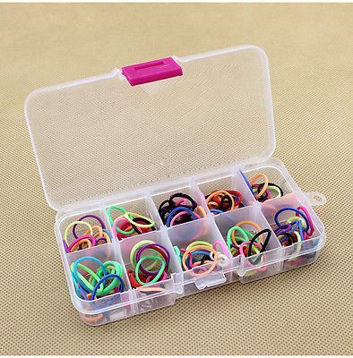Fashion 10 Grids Adjustable Jewelry Beads Pills Nail Art Tips Storage Box Case