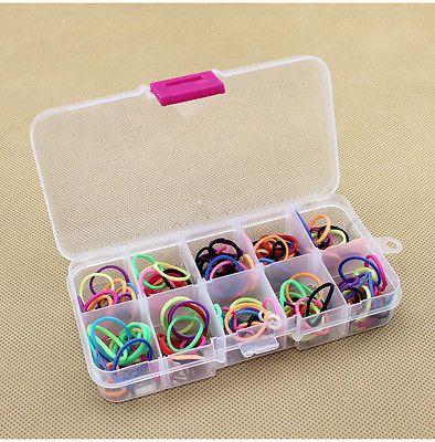 Fashion 10 Grids Adjustable Jewelry Beads Pills Nail Art Tips Storage Box Case